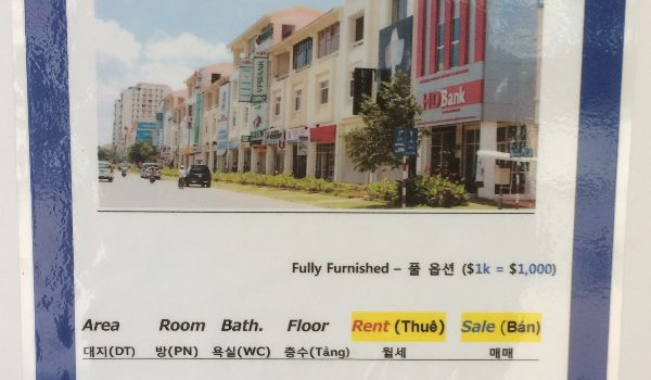 Real estate prices, Saigon D7